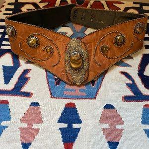 Vintage leather belt by Nina Arjani